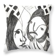 After Mikhail Larionov Pencil Drawing 14 Throw Pillow
