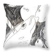 After Mikhail Larionov Pencil Drawing 6 Throw Pillow