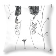 After Mikhail Larionov Pencil Drawing 7 Throw Pillow