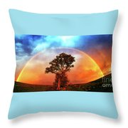 After The Storm, California Foothills                        Throw Pillow