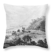 After The Tornado  Pavel Petrovich Svinin 1787 88-1839 Throw Pillow