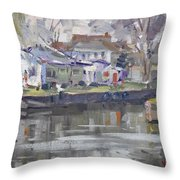 Afternoon At La Salle Park Throw Pillow