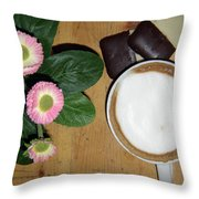Afternoon Pick-me-up Throw Pillow