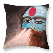 Aghori  Throw Pillow
