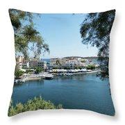 Agios Nikolaos Crete Throw Pillow