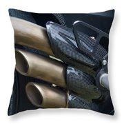 Agusta Racer Pipes Throw Pillow