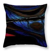 Aile De Papillon Bleu Throw Pillow