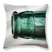 Air Bubbles In Vintage Glass Throw Pillow
