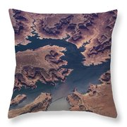 Air View Of Lake Powell Throw Pillow