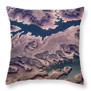 Air View Of The Colorado River Throw Pillow