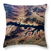 Air View Of The Grand Canyon Throw Pillow