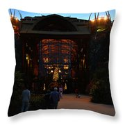 Ak Lodge Lobby Christmas Throw Pillow