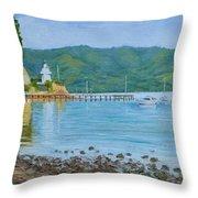 Akaroa Yacht Club Throw Pillow