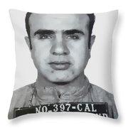 Al Capone Mugshot 1939 - T-shirt Throw Pillow