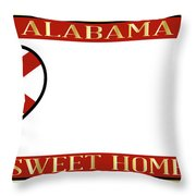 Alabama State License Plate Throw Pillow