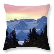 Alaska's Kenai Mountains At Dawn Throw Pillow