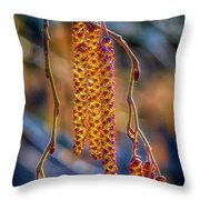 Alder Blossoms Throw Pillow