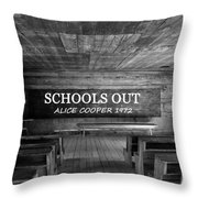 Alice Cooper Schools Out Throw Pillow
