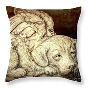 All Dogs Are Angels Throw Pillow