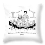 All The Wedding Invites Throw Pillow
