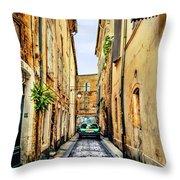 Alley In Avignon Throw Pillow