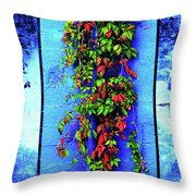 Alley-wall Paradise Throw Pillow