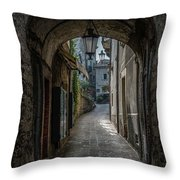 Alleys Of San Marino Throw Pillow