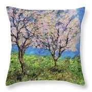 Almonds In Full Bloom Throw Pillow
