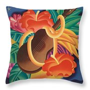 Aloha Welcome To Hawaii, 1932 Poster Throw Pillow
