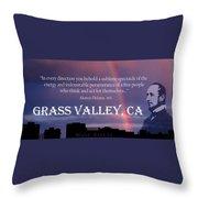Alonzo Delano Grass Valley Quote Throw Pillow