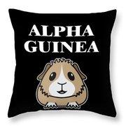 Alpha Guinea Pig Throw Pillow