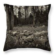 Alpine Benders Cemetery Throw Pillow by Mark Jordan
