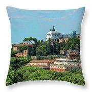 Altare Della Patria Throw Pillow