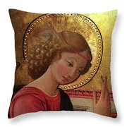 Altarpiece Angel Antique Christian Catholic Religious Art Throw Pillow
