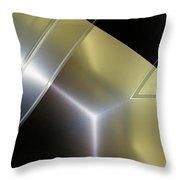 Aluminum Surface. Metallic Geometric Image.   Throw Pillow