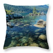 Always About The Light  Throw Pillow by Sean Sarsfield