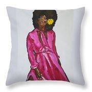 Amara Lanegra Throw Pillow