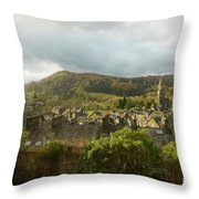 Ambleside Rooftops In The Lake District National Park Throw Pillow