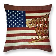 American Coyote Ugly Throw Pillow