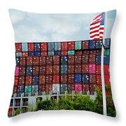 American Georgia Shipping Trade Throw Pillow