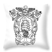 American  Tradicional Nautica Throw Pillow