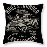 Americas Toughest Truck Throw Pillow