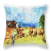 Amish Life Throw Pillow by Mark Allen