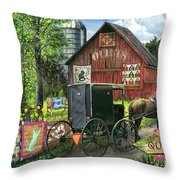 Amish Quilts Throw Pillow