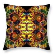 Ammonite Mandela - 044.1 Throw Pillow