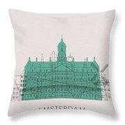 Amsterdam Landmarks Throw Pillow