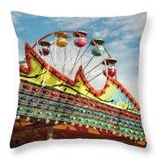 Amusement Park Fun Throw Pillow