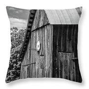 An American Barn Bw Throw Pillow