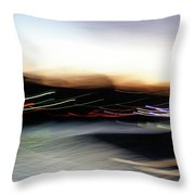 An Early Morning Blur Throw Pillow