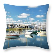 An Idyllic Boating Day Throw Pillow
